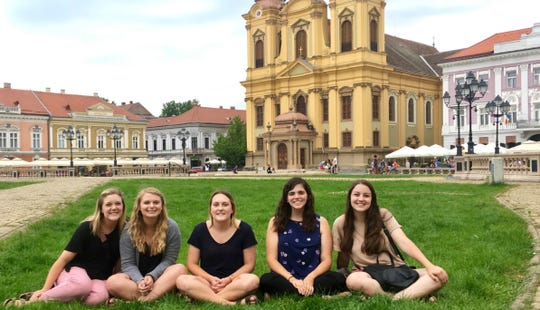 Tori Ford, right, a senior at Abilene Christian University, was among other ACU students and volunteers from other universities who worked over the summer at a orphanage in Timisoara, Romania.
