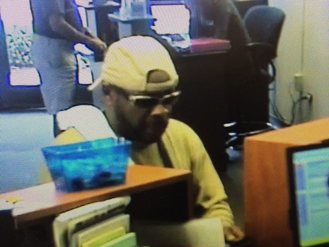 Bank robbery suspect, according to the Buncombe County Sheriff's Office.