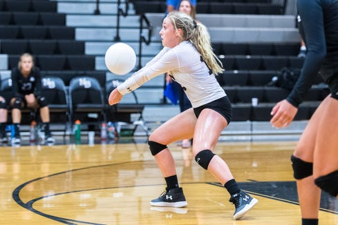 The North Buncombe girls volleyball team hosted Roberson for their conference match Tuesday, August 21, 2018.