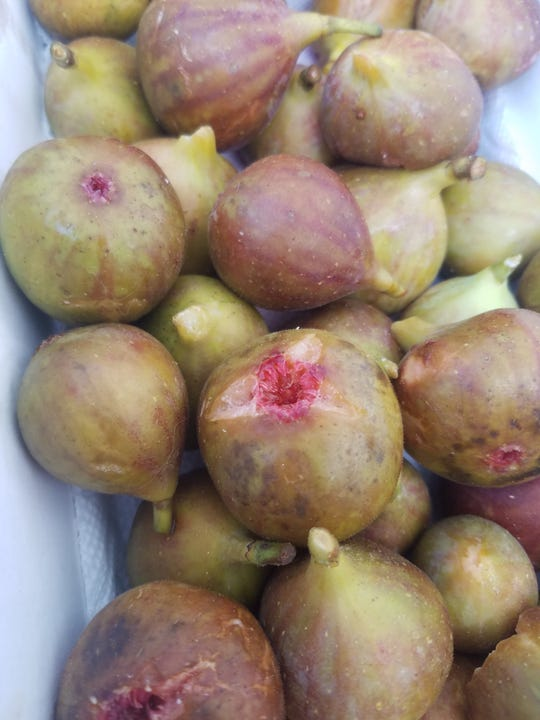 Local figs are delicious raw and fresh, or bake into fruity cookies.