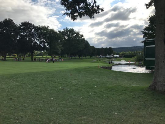 The 18th hole at En-Joie