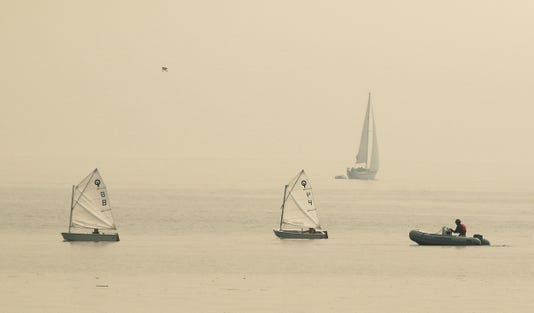 Sailboat Smoke Haze