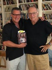 "Larry Mazza, left, author of the mafia memoir ""The Life,"" has turned his life experience in the mob into consulting for Robert De Niro in ""The Irishman"" and tackling other mob-related roles in movies and TV. Here he is with famed screenwriter Nick Pileggi (""Goodfellas"" and ""Casino"")."