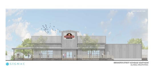 A rendering of Brewster Street Icehouse on Staples Street and Holly Road. The location is expected to be open in Fall 2019.