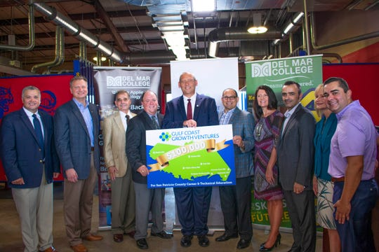 A $100,000 donation to Del Mar from Gulf Coast Growth Ventures will help expand career and technical program at San Patricio County schools, a college news release states.