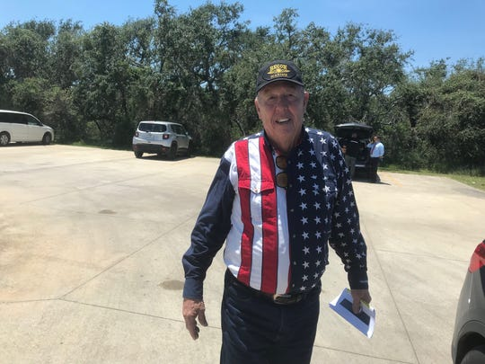 Aransas Pass resident Tom Roberts, whose home is in the final stage of repair after being damaged by Harvey.