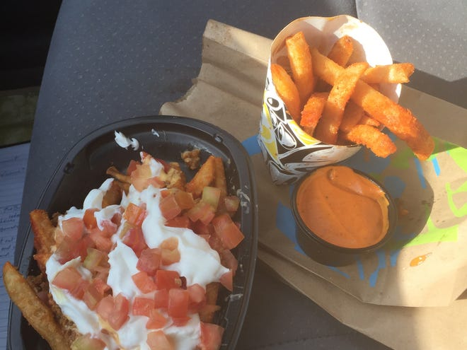 Reaper Ranch fries and Reaper Ranch fries deluxe from Taco Bell