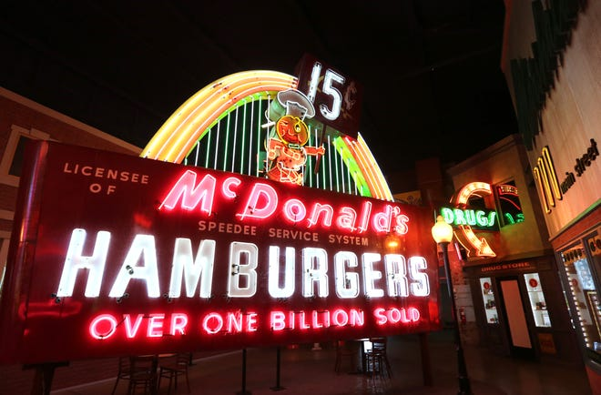 One of the feature artifacts on display at the American Sign Museum in Camp Washington is a gigantic McDonald's sign.