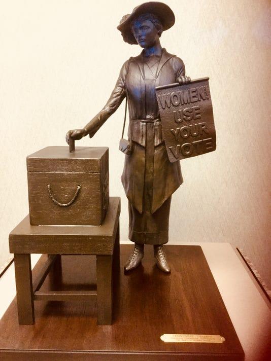 Clarksville Suffragist Statue Maquette