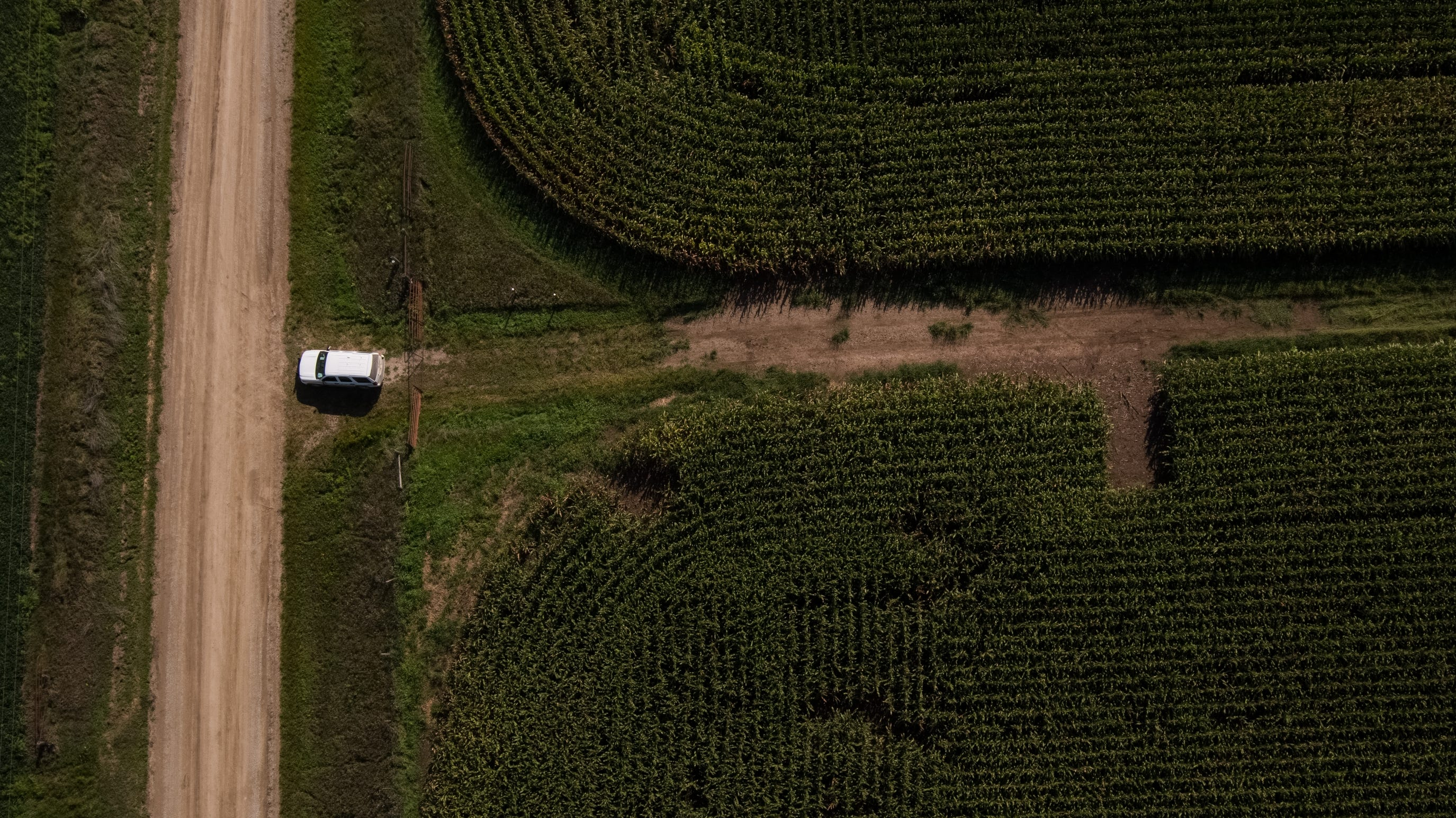 The area in a cornfield outside of Guernsey where the remains of Mollie Tibbetts were found.
