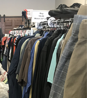 The Waukee Community Closet stocks children, teen and adult clothes for families in Dallas County.