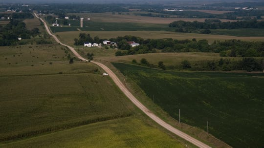 The area in a cornfield outside of Guernsey where remains believed to be the body of Mollie Tibbetts was found Tuesday morning on Wednesday, Aug. 22, 2018 in Guernsey.