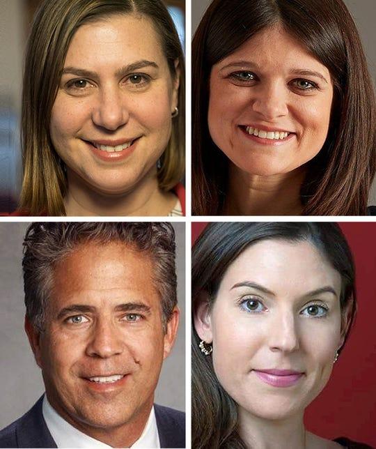 In clockwise order: Elissa Slotkin, Haley Stevens, Lena Epstein and Mike Bishop.