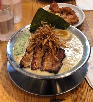 The chicken paitan ramen bowl at Urban Ramen in Midtown