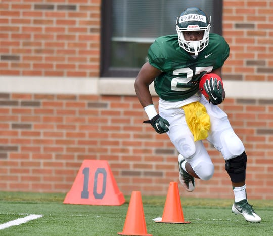Michigan State running back Weston Bridges appears to be healthy, and has impressed his teammates.