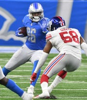 Lions tight end Marcus Lucas has four catches for 23 yards, while other players in the position group -- Luke Willson, Michael Roberts, and Levine Toilolo -- have not made much of an impact.