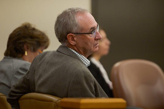 Department chair of Computer Sciences at Colorado State University, Dr. Darrell Whitley, looks on as professor Asa Ben-Hur testifies as a witness in a lawsuit against Colorado State University accusing the college of retaliation and sexual harassment against former CSU assistant professor Christina Boucher, as seen on Wednesday, Aug. 22, 2018, at the Larimer County Justice Center in Fort Collins, Colo.