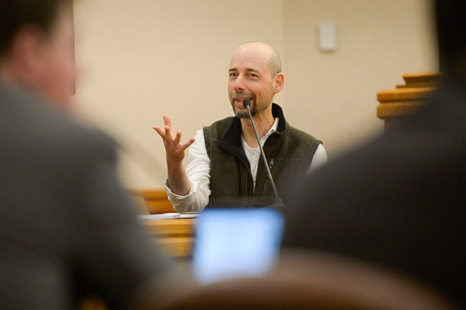 Colorado State University professor Asa Ben Hur testifies as a witness in a lawsuit against Colorado State University accusing the college of retaliation and sexual harassment against former CSU assistant professor Christina Boucher, as seen on Wednesday at the Larimer County Justice Center in Fort Collins.