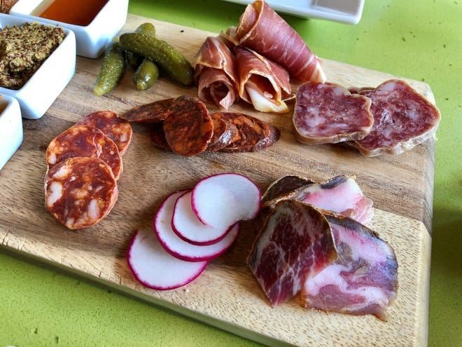 A selection of meats from the charcuterie platter at Mad Fresh Bistro.