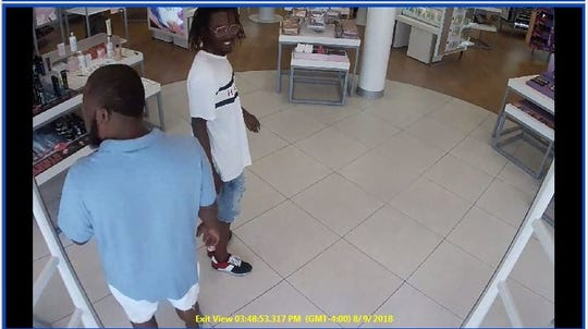 These men are suspects in the Aug. 9 theft of $600 worth of beauty supplies from Ulta Beauty.