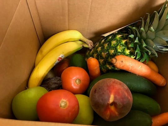 FoodShare boxes contain 10-12 varieties of fresh fruit and vegetables and cost $15 cash, or $5 with SNAP and a $10 Healthy Bucks match.