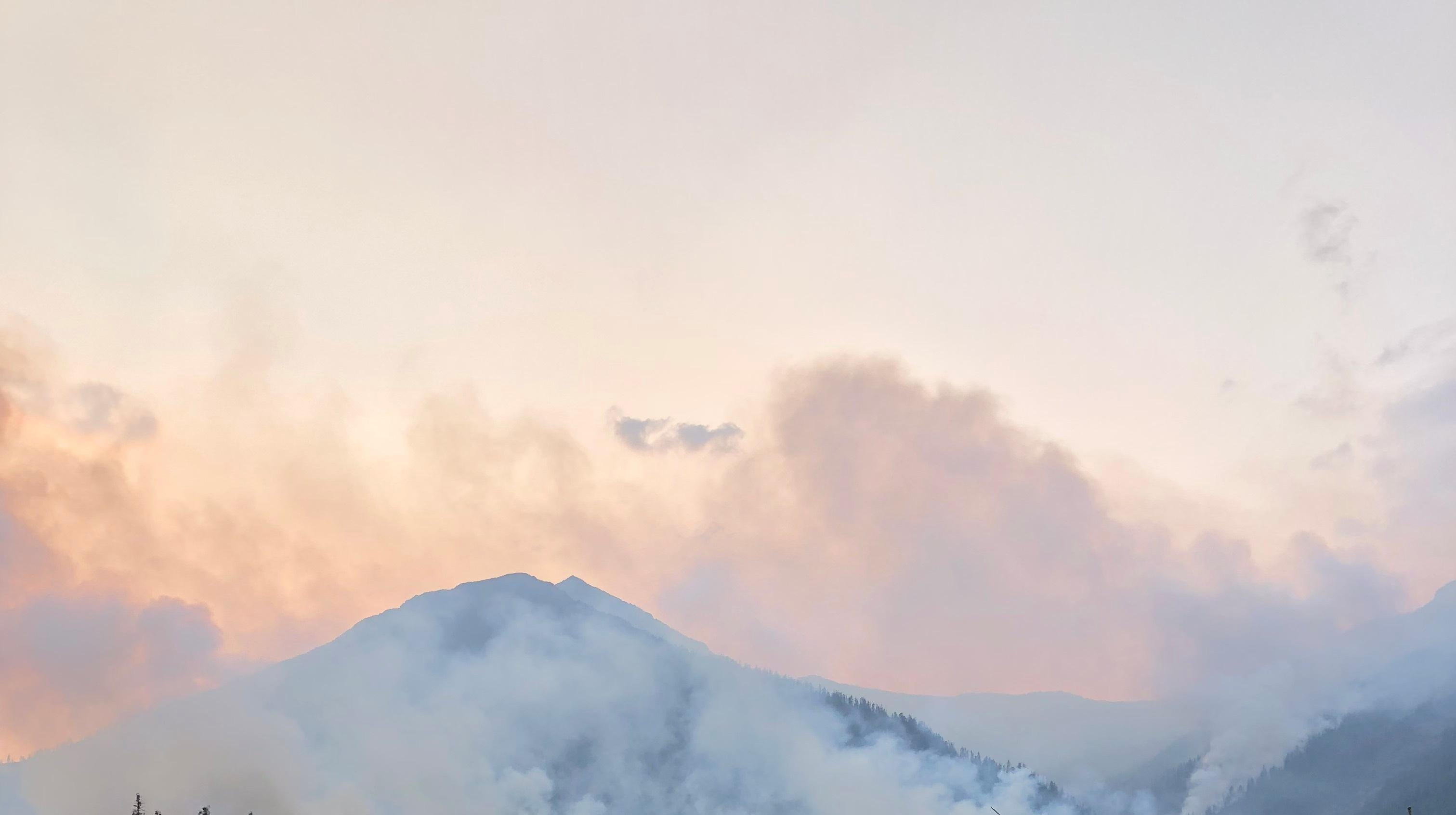 The Howe Ridge FIre in Glacier National Park was started by lightning Aug. 11.