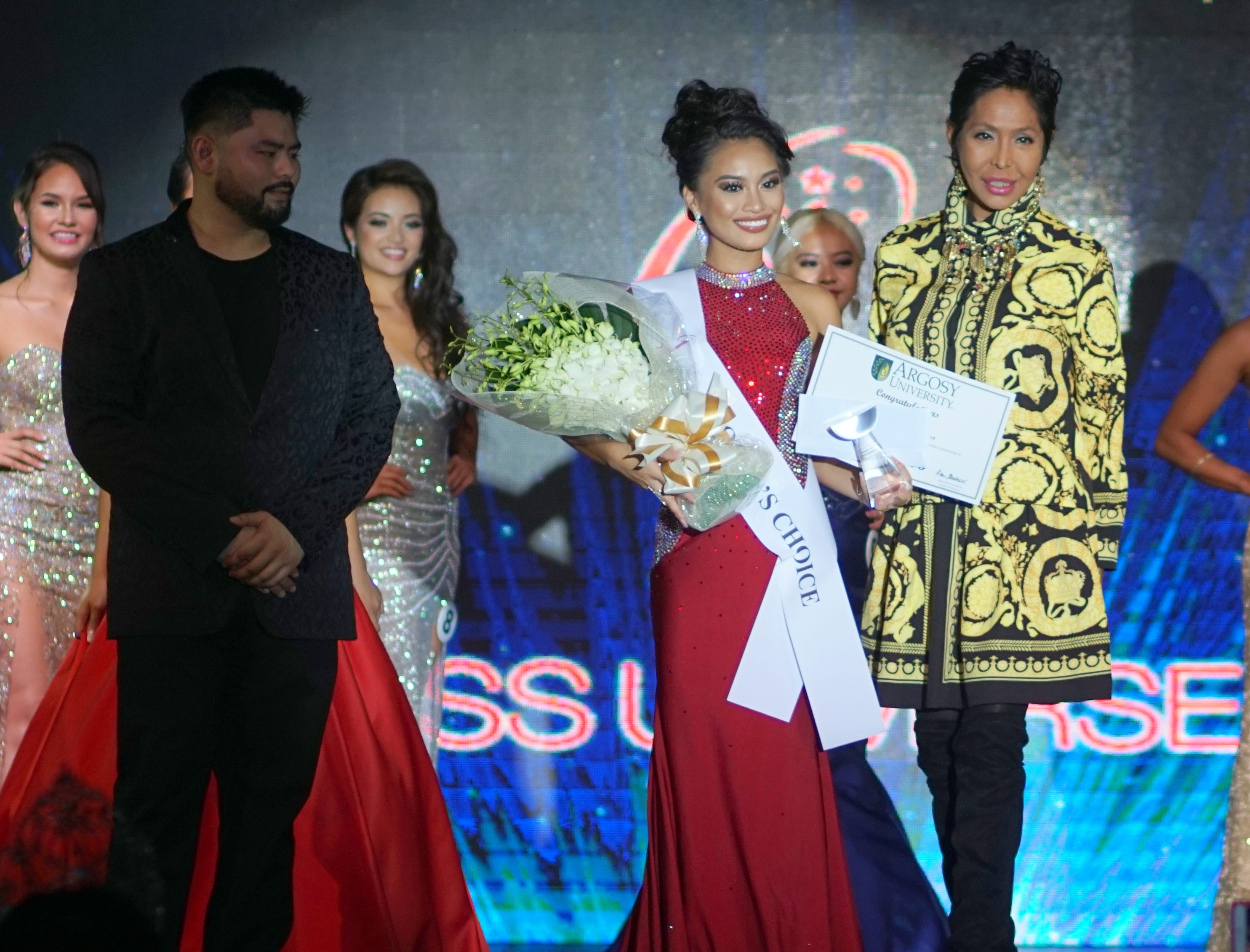 Contestant 9  Celine Nicole Almero Comia wins the Special Cecilia Bamba award during the Miss Universe Guam 2018 pageant held at Sheraton Laguna Guam Resort.