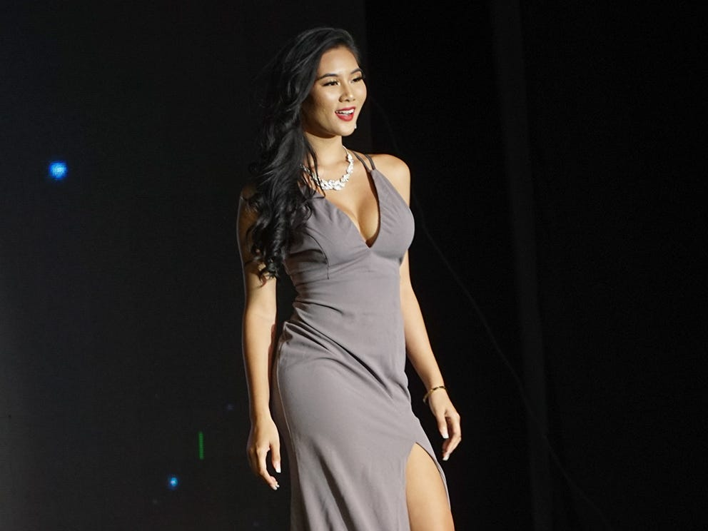 Miss Universe Guam Pageant opening ceremony with contest 3 Erin Jordan Blanquisco . The pageant was held at  Sheraton Laguna Guam Resort on Aug. 15.