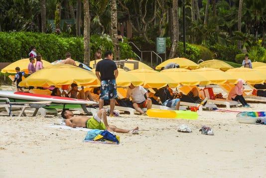 Tumon Beach Tourists 3