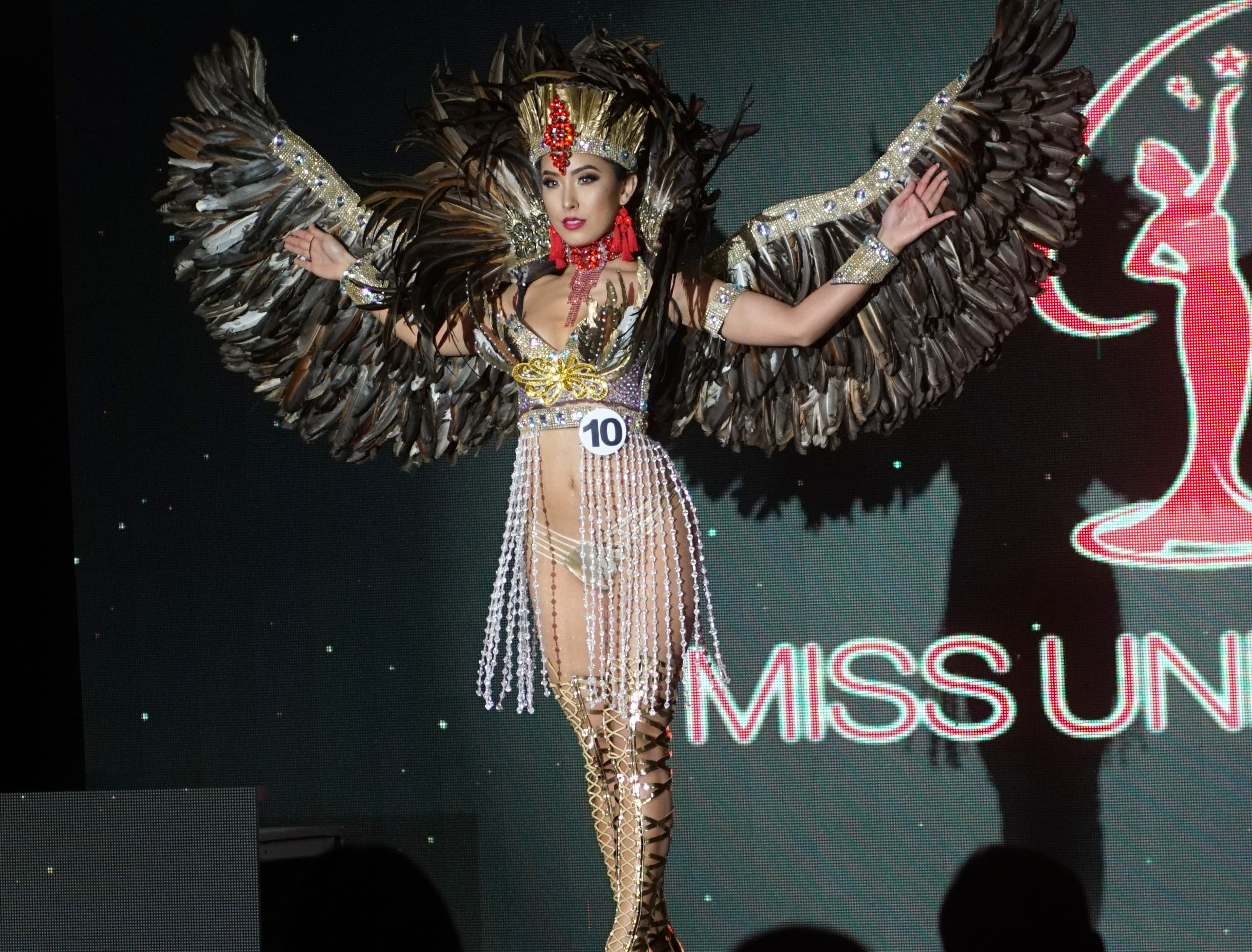 Native Costume portion of the Miss Universe Guam pageant.  Contestant 10 Kirsten Dahilig.  The pageant was held at  Sheraton Laguna Guam Resort.