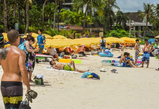 Tumon Beach Tourists 5
