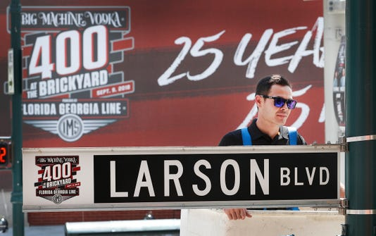 Nascar Kyle Larson Has His Very Own Street In Indianapolis
