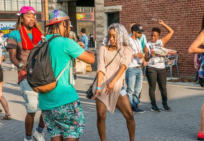 Attendees enjoy the 2017 edition of the Chreece hip-hop festival, which returns Saturday to Fountain Square.