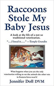"The cover of Jennifer Doll's book ""Raccoons Stole My Baby Jesus."""