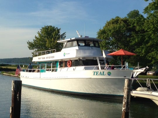 The MV Teal, pictured at the Allan H. Treman Marina, is Discover Cayuga Lake's newest vessel.