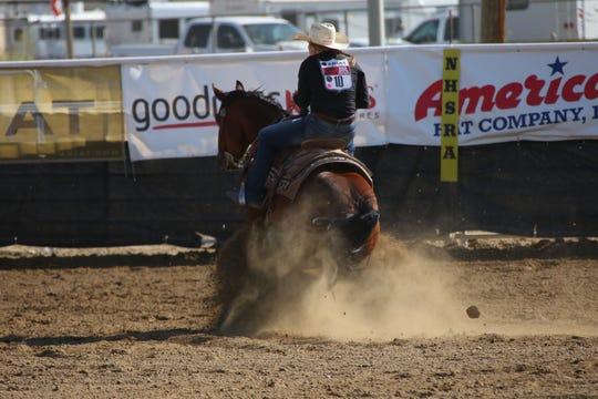 Emma Cameron competed in rodeo events each weekend when she was in high school.