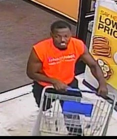Jackson police are asking for assistance identifying this person of interest in connection with a theft from Kroger Lynnwood.