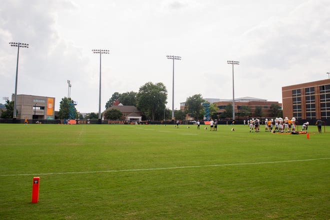 The Tennessee Vols now have three practice fields at Haslam Field following the installation of another field this summer.
