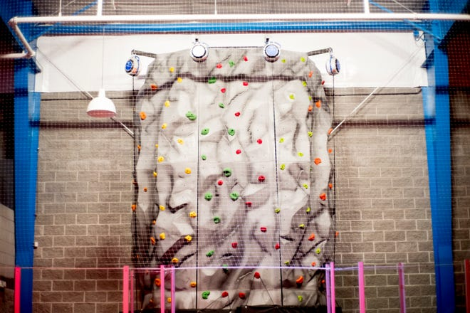 The Change Center in Knoxville features a rock climbing wall.