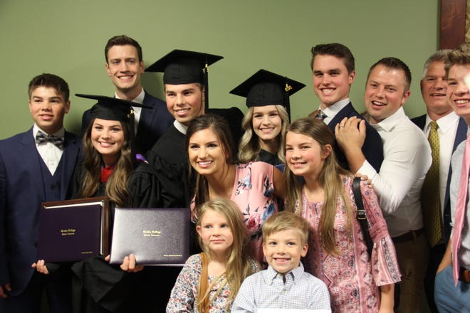 """Bringing Up Bates"" starts celebrate Tori (Bates) Smith, Josie Bates and Trace Bates graduating from Crown College of the Bible in Powell, Tennessee."
