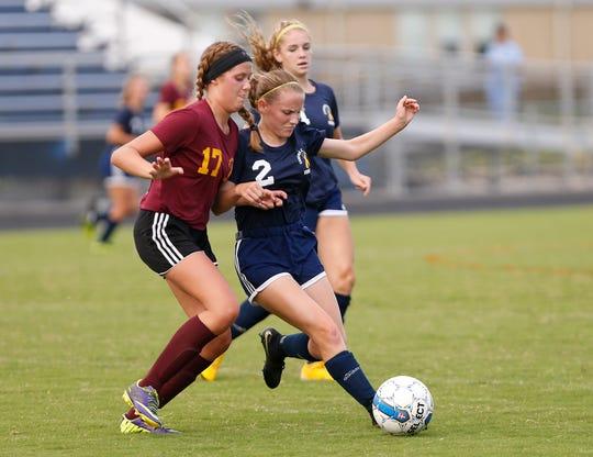 Freshman Aubrey Weeks scored her eighth goal of the season in Saturday's Class A semistate.