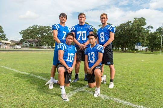 Erath's offensive standouts include Johnny Nguyen (10), Nick Nguyen (13), Matt Domingues (7), Jax Harrington (70) and Luke Frederick (8).