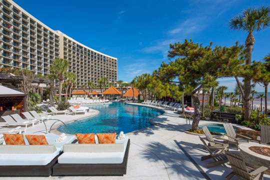The San Luis Resort spans 32 acres overlooking the Gulf.