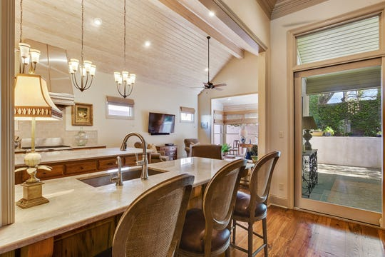The kitchen area is perfect for family meals.