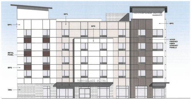 A Tennessee-based developer submitted these plans for a TownePlace Suites in downtown Louisville.