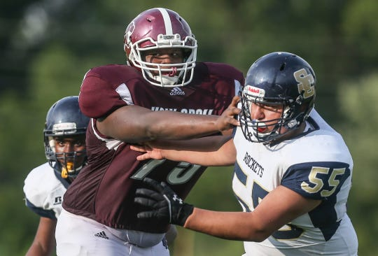 Offensive lineman Kiyaunta Goodwin has enrolled at Ballard High School after playing as a freshman at Holy Cross last season.