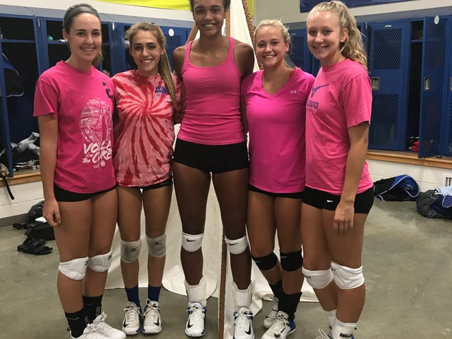 Ontario Lady Warriors (left to right) Makenzie Barnes, Alexa Frankhouse, Cammy Smith, Emilee Cochran and Lauren Kehl have been instrumental in the culture change around Ontario volleyball.