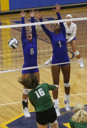 The Madison Rams volleyball team played a game at Ontario on Tuesday evening.