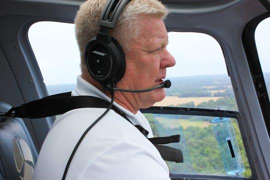Helicopter pilot Jimmy Sain