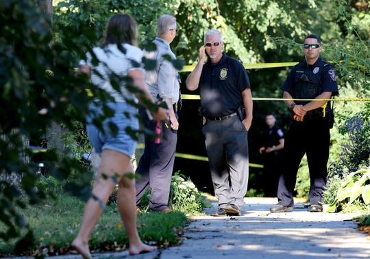 Crime scene investigators respond to a home in the 7900 block of Warren Avenue in Wauwatosa after a murder-suicide on Aug. 22, 2018.